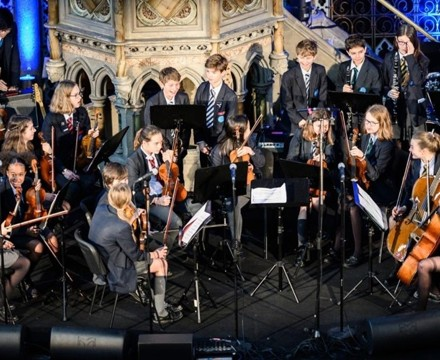 St mary magdalene academy islington london christmas service at union chapel student orchestra performs