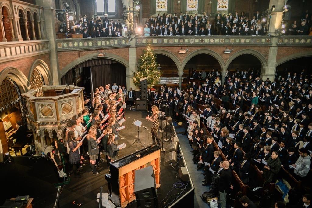 St mary magdalene academy islington london christmas service at union chapel 2