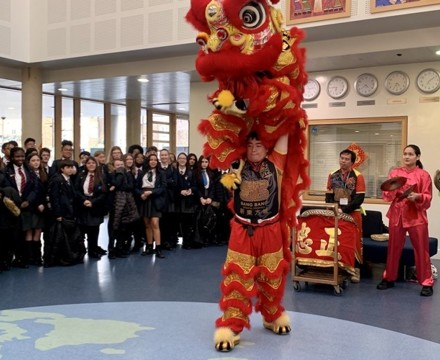 St mary magdalene academy smma islington london lion dance for chinese new year 2020