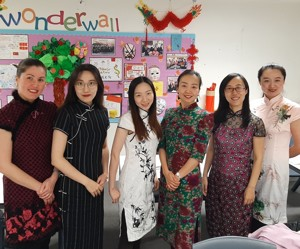 St mary magdalene academy smma islington london mandarin team dressed for good luck chinese new year 2020
