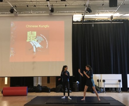 St mary magdalene academy smma islington london students demonstrate martial arts for chinese new year 2020
