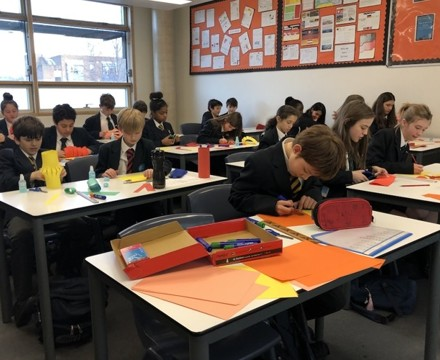 St mary magdalene academy smma islington london students enjoy making chinese lanterns for chinese new year 2020