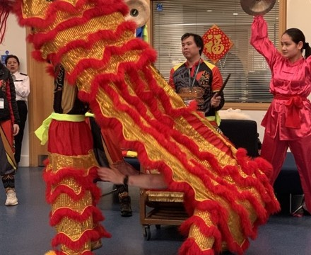 St mary magdalene academy smma islington london students enjoy watching a lion dance for chinese new year 2020
