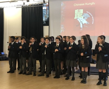 St mary magdalene academy smma islington london students perform a song in mandarin for chinese new year 2020