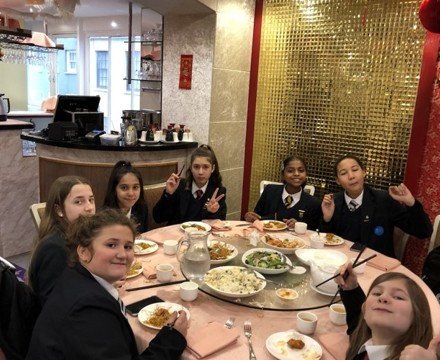 St mary magdalene academy students from smma islington london enjoy a celebration lunch in chinatown for chinese new year 2020