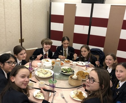 Year 7 students enjoy a lunch in chinatown to celebrate chinese new year st mary magdalene academy smma islington london 2020