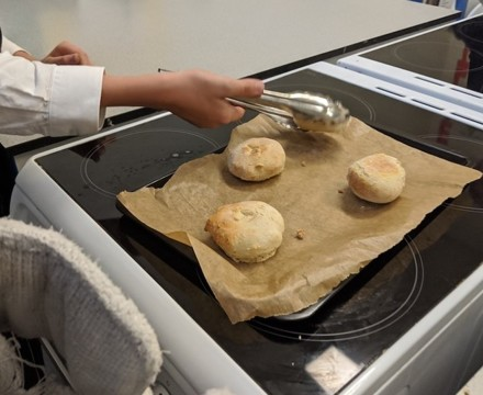 St mary magdalene academy islington latin club baking libum from a recipe by cato the elder
