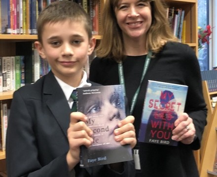 St Mary Magdalene Academy Islington, Author signs students books for World Book Day 2020