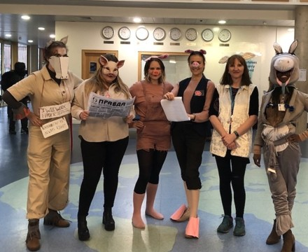 St Mary Magdalene Academy Islington, Staff Dress As Book Characters for World Book Day 2020, Animal Farm