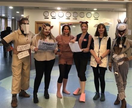 St Mary Magdalene Academy Islington, Staff Dress As Book Characters for World Book Day 2020, Animal Farm