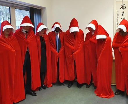 St Mary Magdalene Academy Islington, Staff Dress As Book Characters for World Book Day 2020, Handmaid