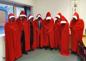 St Mary Magdalene Academy Islington, Staff Dress As Book Characters for World Book Day 2020, Handmaid's Tale