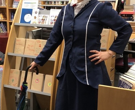 St Mary Magdalene Academy Islington, Staff Dress As Book Characters for World Book Day 2020, Mary Poppins