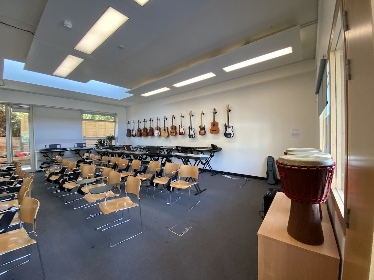St mary magdalene academy secondary school sixth form islington new music rooms 2
