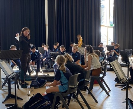 St Mary Magdalene Academy Secondary School & Sixth FOrm Islington, Music Department give lessons in the MPH next to the new practice rooms