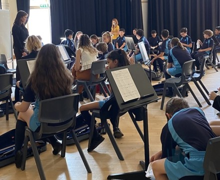 St Mary Magdalene Academy Secondary School & Sixth FOrm Islington, Music Department moves to new practice rooms 3