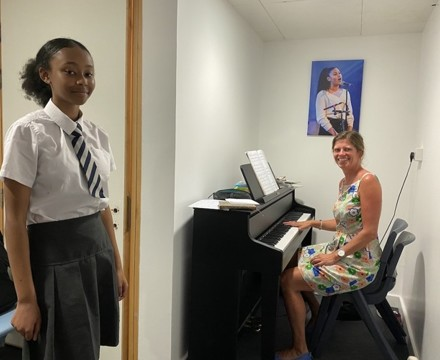 St Mary Magdalene Academy Secondary School & Sixth FOrm Islington, Music lesson in new practice rooms