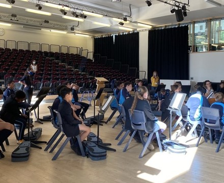 St Mary Magdalene Academy Secondary School & Sixth FOrm Islington, students receive their new violins and violas
