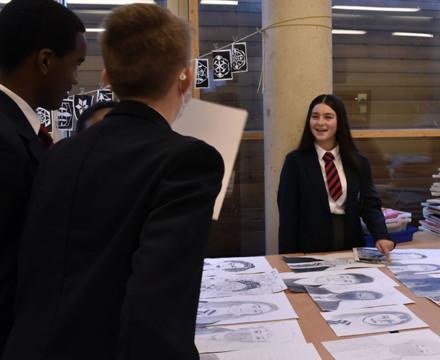 St mary magdalene academy secondary school islington london year 9 liberal arts exhibition 12