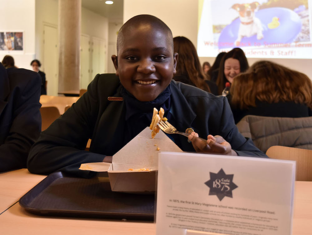 St mary magdalene academy islington student approves of his tasty new hot special part of the new lunchtime selection in the launch of our new cafe 1875