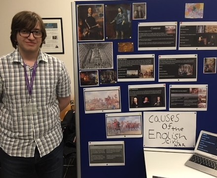 Sixth Form student gives EPQ presentation, SMMA Islington