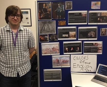 Sixth Form student gives EPQ presentation, SMMA Islington