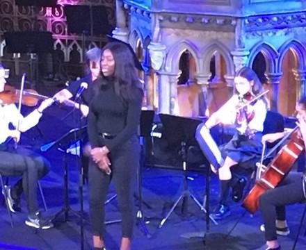 Singing in Christmas Service St Mary Magdalene Academy Islington