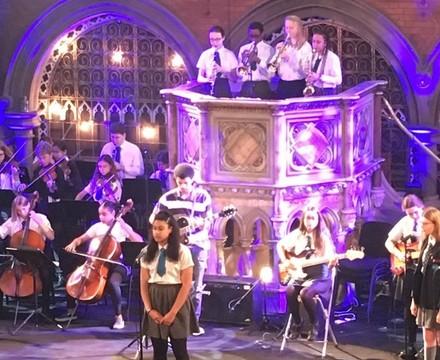 Christmas Concert performance, St Mary Magdalene Academy Islington