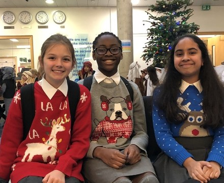 Christmas Jumper Day, St Mary Magdalene Academy, Islington