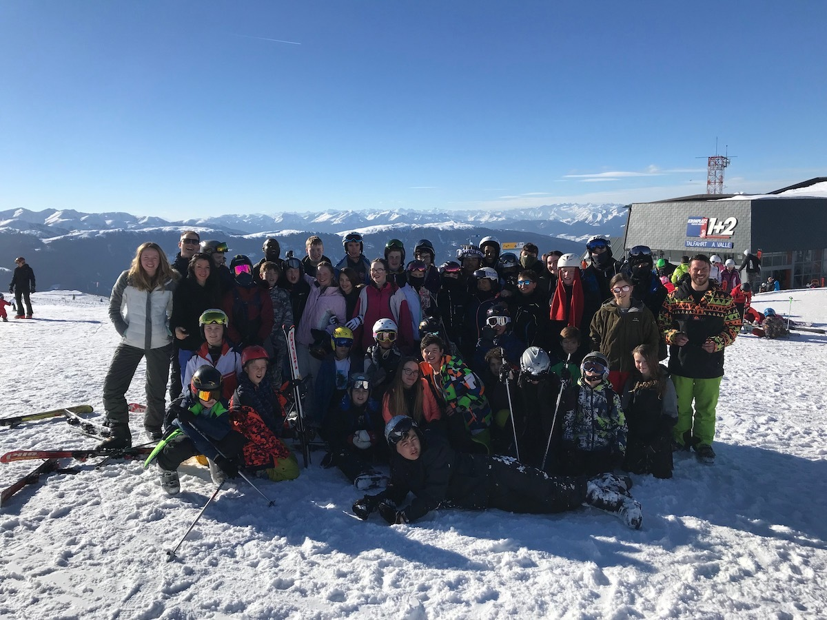St Mary Magdalene Academy Islington, ski trip 2019 group photo