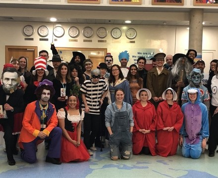 St Mary Magdalene Academy Islington World Book Day 2019 all staff