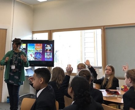 St Mary Magdalene Academy Islington World Book Day 2019 workshop with author Sita Brahmachari