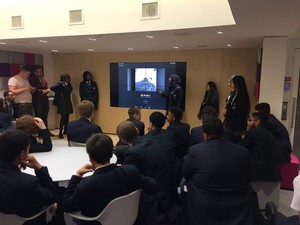 St mary magdalene academy business studies students present their social media marketing campaign for three uk
