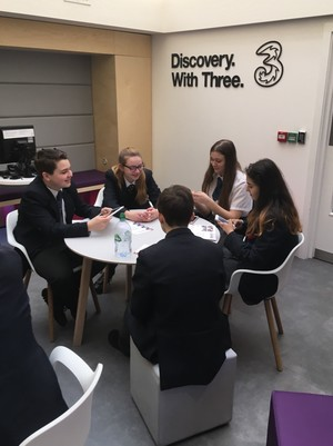 Business studies students from st mary magdalene academy at three uk for a marketing challenge