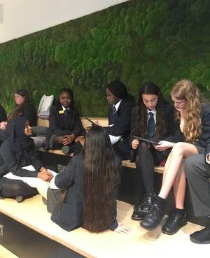St mary magdalene academy business studies students in a marketing challenge at three uk