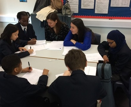 St mary magdalene academy islington year 7 students at a careers workshop