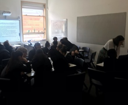 St mary magdalene academy islington year 7 students in teamwork exercises at a workshop to explore different careers