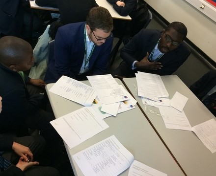 St mary magdalene academy islington year 7 students meet business volunteers at a careers workshop