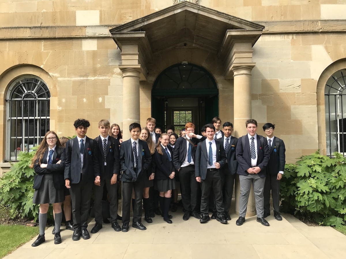 St mary magdalene academy islington year 10 students in front of st peters college oxford university june 2019