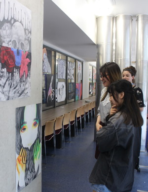 St mary magdalene academy islington gcse art private view looking at the art