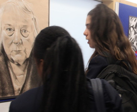 St mary magdalene academy islington gcse art private view studying a portrait