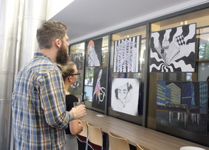 St mary magdalene academy islington gcse art private view visitors study the art