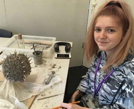 St mary magdalene academy islington a level artist preparing work in the studio