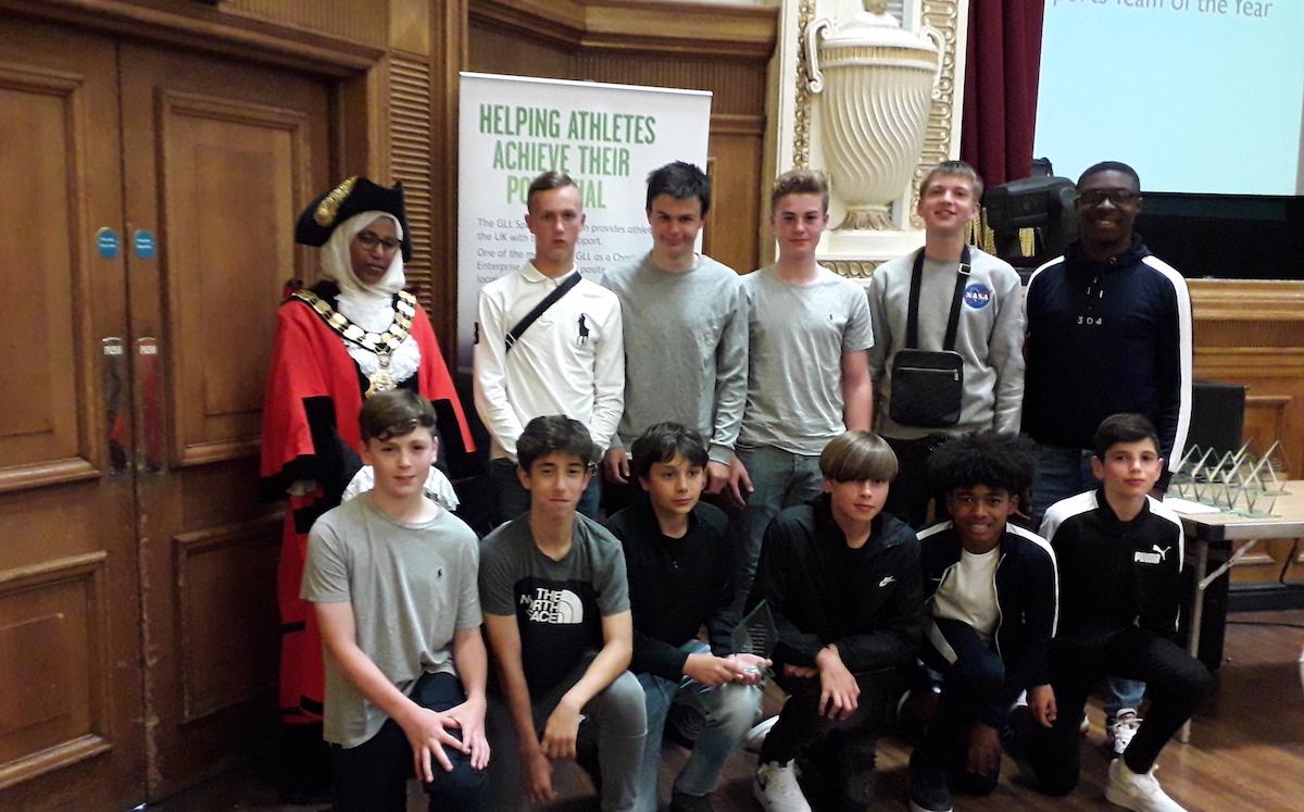 Islington sport awards st mary magdalene academy win best under 14s sports team
