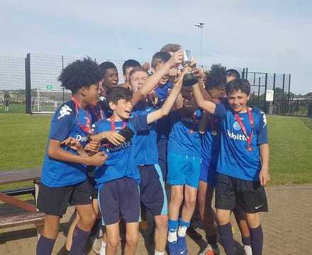 St mary magdalene academy islington year 9 boys football cup are voted best under 14s sports team in the islington sports awards