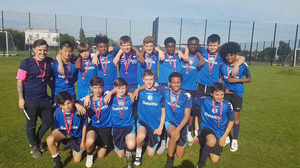 St mary magdalene academy islington year 9 boys football cup win 3 trophies in 2019 and are voted best under 14s sports team at islington sports awards