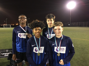 St mary magdalene academy islington year 9 boys football cup win 3 trophies in 2019 plus best under 14s sports team in the islington sports awards