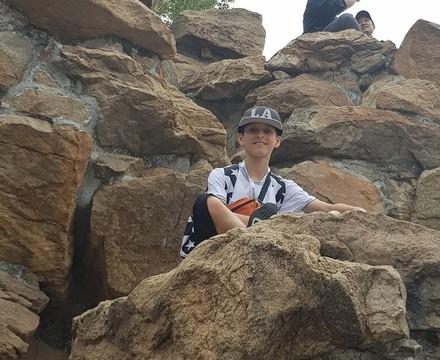 St mary magdalene academy secondary school islington mandarin students trip to china july 2019 climbing the rocks