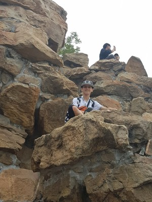 St mary magdalene academy secondary school islington mandarin students trip to china july 2019 climbing the rocks
