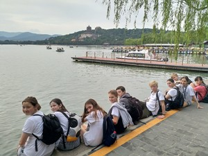 St mary magdalene academy secondary school islington mandarin students trip to china july 2019 students relaxing